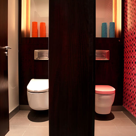 Les toilettes l vent le voile office et culture for Decoration toilettes design