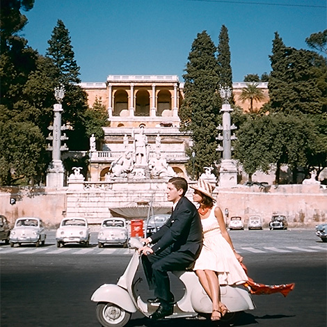 Rome, scooter, 1960