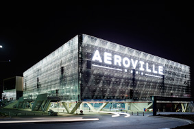 aeroville ext nuit